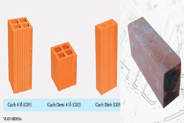các kích cỡ gạch tuynel xây dựng thường dùng